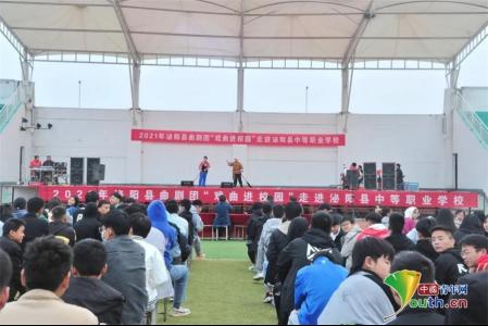 """""""河南泌阳:戏曲艺术唱响校园"""